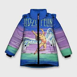 Куртка зимняя для девочки Led Zeppelin: Angel цвета 3D-черный — фото 1