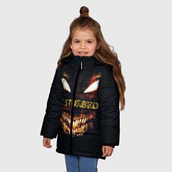 Куртка зимняя для девочки Disturbed Demon цвета 3D-черный — фото 2