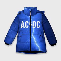 Куртка зимняя для девочки AC/DC: Lightning цвета 3D-черный — фото 1