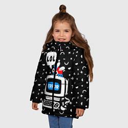 Куртка зимняя для девочки Fatal Error цвета 3D-черный — фото 2
