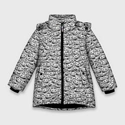 Куртка зимняя для девочки Мегатролль цвета 3D-черный — фото 1
