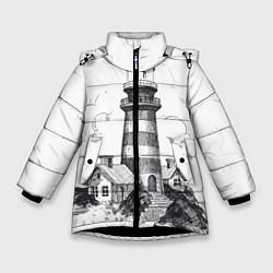 Куртка зимняя для девочки Маяк цвета 3D-черный — фото 1