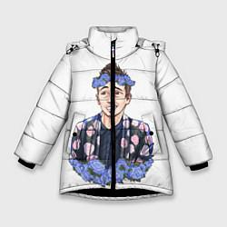 Куртка зимняя для девочки Twenty One Pilots: Blue Guy цвета 3D-черный — фото 1