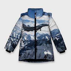 Куртка зимняя для девочки Космические войска 10 цвета 3D-черный — фото 1