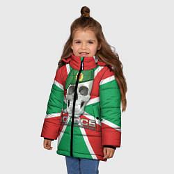 Куртка зимняя для девочки ПС ФСБ цвета 3D-черный — фото 2