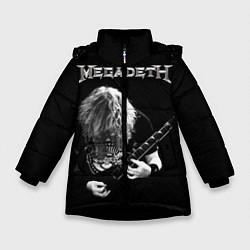 Куртка зимняя для девочки Dave Mustaine цвета 3D-черный — фото 1