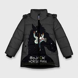 Куртка зимняя для девочки Bojack Horseman цвета 3D-черный — фото 1