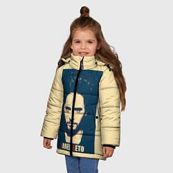 Детская зимняя куртка для девочки с принтом Jared Leto, цвет: 3D-черный, артикул: 10123234106065 — фото 2