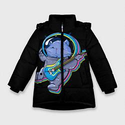 Куртка зимняя для девочки Космокот цвета 3D-черный — фото 1