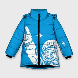 Куртка зимняя для девочки Гагарин рокер цвета 3D-черный — фото 1