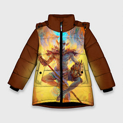 Куртка зимняя для девочки Вивек цвета 3D-черный — фото 1