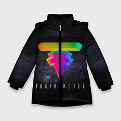 Куртка зимняя для девочки Tokio Hotel: New Symbol цвета 3D-черный — фото 1