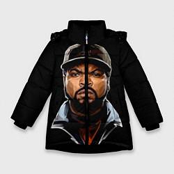 Куртка зимняя для девочки Ice Cube цвета 3D-черный — фото 1