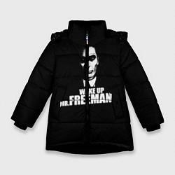 Куртка зимняя для девочки Wake up Mr. Freeman цвета 3D-черный — фото 1