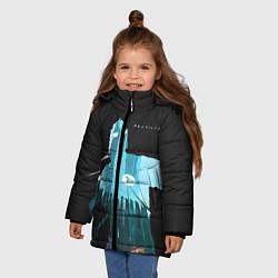 Куртка зимняя для девочки Half-Life City цвета 3D-черный — фото 2