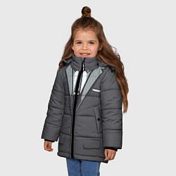 Куртка зимняя для девочки Костюм цвета 3D-черный — фото 2