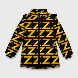 Куртка зимняя для девочки Brazzers Z цвета 3D-черный — фото 1
