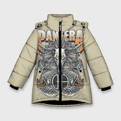 Куртка зимняя для девочки Pantera: Wild Goat цвета 3D-черный — фото 1
