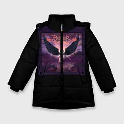 Куртка зимняя для девочки Dethklok: Angel цвета 3D-черный — фото 1
