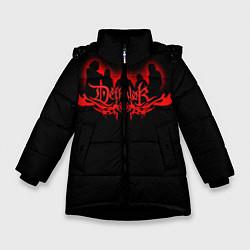 Куртка зимняя для девочки Dethklok цвета 3D-черный — фото 1