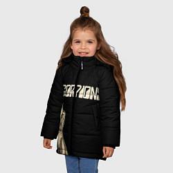 Детская зимняя куртка для девочки с принтом Scorpions Rock, цвет: 3D-черный, артикул: 10134452906065 — фото 2