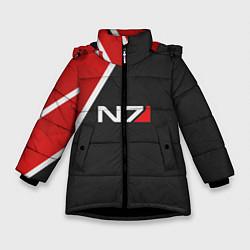 Куртка зимняя для девочки N7 Space цвета 3D-черный — фото 1