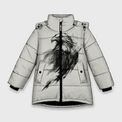 Куртка зимняя для девочки Дикий орел цвета 3D-черный — фото 1
