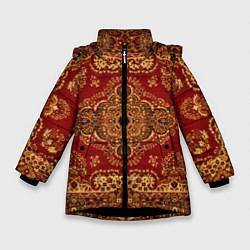 Куртка зимняя для девочки Человек-ковер цвета 3D-черный — фото 1