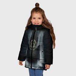 Куртка зимняя для девочки HIM: Devil Castle цвета 3D-черный — фото 2