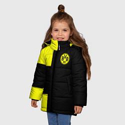 Куртка зимняя для девочки BVB FC: Black style цвета 3D-черный — фото 2