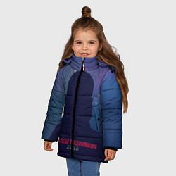 Куртка зимняя для девочки BR 2049: Shadow man цвета 3D-черный — фото 2