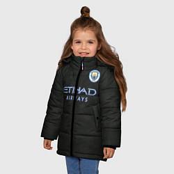 Куртка зимняя для девочки Man City FC: Black 17/18 цвета 3D-черный — фото 2