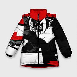 Куртка зимняя для девочки Persona 5 цвета 3D-черный — фото 1