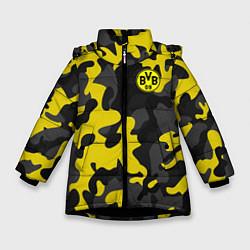 Куртка зимняя для девочки Borussia 2018 Military Sport цвета 3D-черный — фото 1