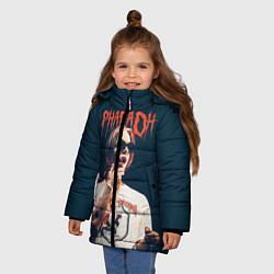 Куртка зимняя для девочки Pharaoh цвета 3D-черный — фото 2