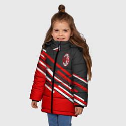 Куртка зимняя для девочки АC Milan: R&G цвета 3D-черный — фото 2