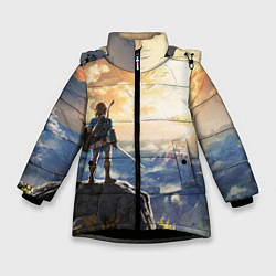 Куртка зимняя для девочки Knight Link цвета 3D-черный — фото 1