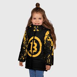 Куртка зимняя для девочки Bitcoin Master цвета 3D-черный — фото 2