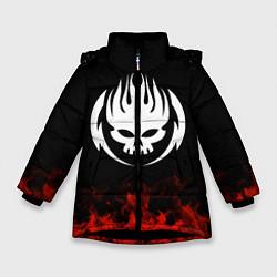 Куртка зимняя для девочки The Offspring: Red Flame цвета 3D-черный — фото 1
