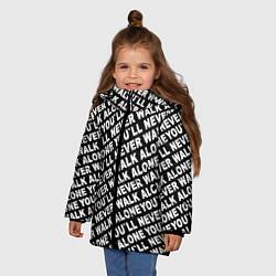 Куртка зимняя для девочки YNWA цвета 3D-черный — фото 2