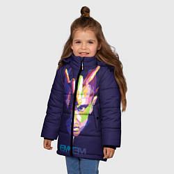 Куртка зимняя для девочки Eminem V&C цвета 3D-черный — фото 2