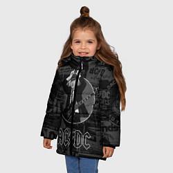 Куртка зимняя для девочки AC/DC: Black Devil цвета 3D-черный — фото 2