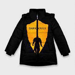 Куртка зимняя для девочки Dark Souls: Orange Light цвета 3D-черный — фото 1