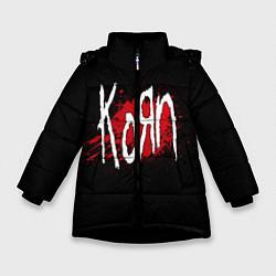 Куртка зимняя для девочки Korn: Blood цвета 3D-черный — фото 1