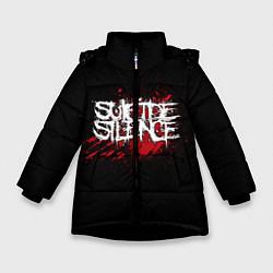 Куртка зимняя для девочки Suicide Silence Blood цвета 3D-черный — фото 1