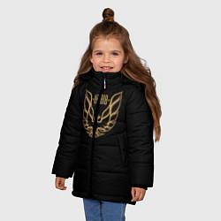 Куртка зимняя для девочки Khabib: Gold Eagle цвета 3D-черный — фото 2