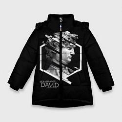 Детская зимняя куртка для девочки с принтом Renaissance David, цвет: 3D-черный, артикул: 10145987906065 — фото 1