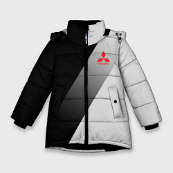 Куртка зимняя для девочки MITSUBISHI ELITE цвета 3D-черный — фото 1