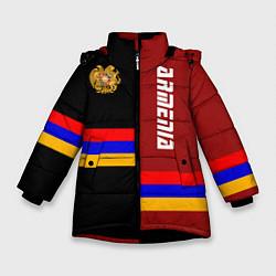 Куртка зимняя для девочки Armenia цвета 3D-черный — фото 1