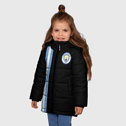 Детская зимняя куртка для девочки с принтом Манчестер Сити, цвет: 3D-черный, артикул: 10147107706065 — фото 2